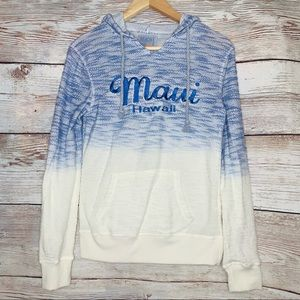 Beach by Exist Tie Dye Maui Hawaii Hoodie Pullover